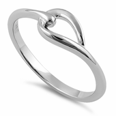 Sterling Silver Simple Leaf Knot