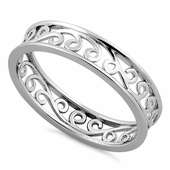 Sterling Silver Simple Swirl Ring