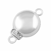 Sterling Silver Single Ring Pearl Clasp 9mm