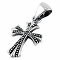 Sterling Silver Small Antique Cross Pendant