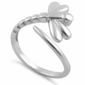 Sterling Silver Small Dragonfly Ring