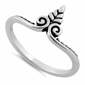 Sterling Silver Small Tree Ring