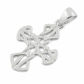 Sterling Silver Small Unique Celtic Cross Pendant