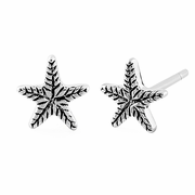 Sterling Silver Star Fish Stud Earrings