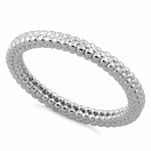 Sterling Silver Stencil Pattern Stacklable Ring