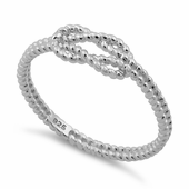 Sterling Silver String Reef Knot Ring
