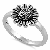 Sterling Silver Sun Flower Ring