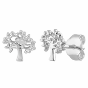 Sterling Silver Tree of Life Earrings