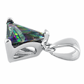 Sterling Silver Triangle Rainbow Topaz Pendant