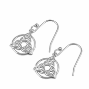 Sterling Silver Triquetra Hook Earrings