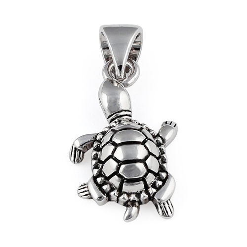 Silver turtle pendant sterling silver turtle pendant aloadofball Image collections