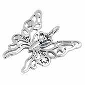 Sterling Silver Unique Butterfly Pendant