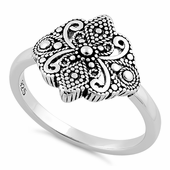 Sterling Silver Unique Rope Design Ring