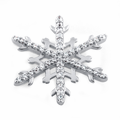 Sterling Silver Unique Snowflake Clear CZ Pendant