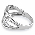 Sterling Silver Unique Strings Ring