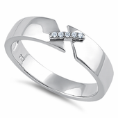 Sterling Silver Unity Clear CZ Ring