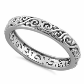 Sterling Silver Vines Eternity Band Ring