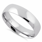 Sterling Silver Wedding Band 5mm