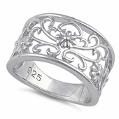 Sterling Silver Wild Flowers Ring