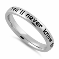 """Sterling Silver """"You'll never know dear how much I love you"""" Ring"""