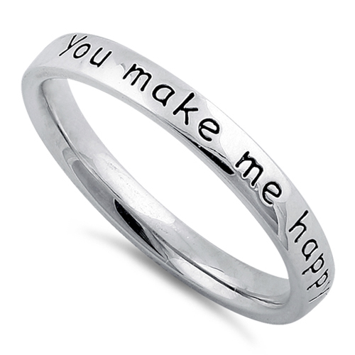 You Make Me Happy When Skies Are Grey Ring