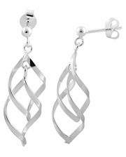 Sterling Silver Elegant Dangle Earrings