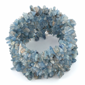 Wide Chips Blue/Green Kyanite Elastic Bracelet