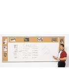 Combination Porcelain Steel Marker and Bulletin Boards-Type H 4' x 10' (Tack Left 4'H x 2'W, Marker Center 3'H x 6'W, Tack Right 4'H x 2'W)