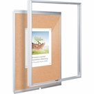 Economy Enclosed Bulletin Board Cabinet