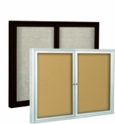 Enclosed Economy Bulletin Board Cabinets