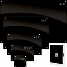 Enlighten Glass Dry Erase Markerboard - Black 1'H x 1'W