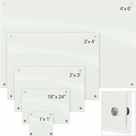Enlighten Glass Dry Erase Markerboard - White  1 1/2'H x 2'W