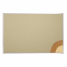 Fabric Cork-Plate Tackboard - Aluminum Trim