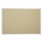 Fabric Covered Cork Plate Tackboards-Aluminum 4'H x 4'W
