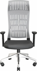 FLY MID BACK CHAIR GRAY WITH FIXED ARMS, NYLON BASE