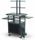 Height Adjustable Flat Panel Cart