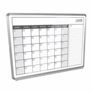 "Luxor Magnetic Dry-Erase Monthly Calendar 48"" x 36"""