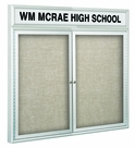 Outdoor Enclosed Headline Bulletin Board Cabinets
