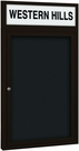 Outdoor Enclosed Headline Directory Board Cabinets - Coffee Finish