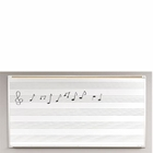 Porcelain Steel Music Line Board 4'H x 10'W