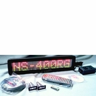 "Programmable Message Sign - Tri Color - 4""H x 17""L x 1""D"