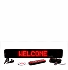 "Programmable Message Sign - Ultra RED  - 4""H x 26""L x 1""D"