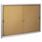 Standard Bulletin Board Cabinets with 2 sliding doors  4'H x 5'W