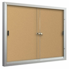 Standard Bulletin Board Cabinets with 2 sliding doors  4'H x 6'W