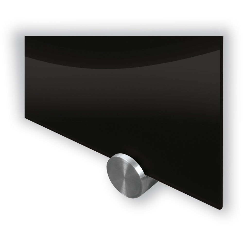 visionary black glass markerboards 4x8 - Black Glass