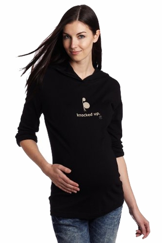 "2 Chix ""Knocked Up?"" Maternity Hoodie"