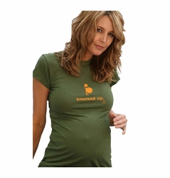 "2 Chix ""Knocked Up"" Maternity T-Shirt"