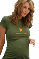 "SOLD OUT 2 Chix ""Knocked Up"" Maternity T-Shirt"