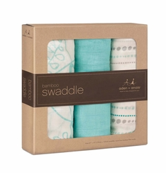 SOLD OUT Aden + Anais Bamboo Swaddles 3 Pack - Azure