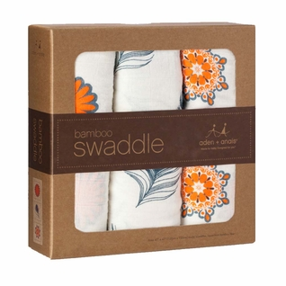 SOLD OUT Aden + Anais Bamboo Swaddles 3 Pack - Mela